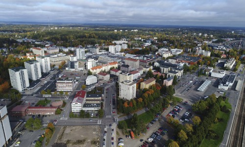 View of the city center (Kouvola)